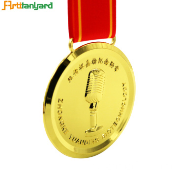 Custom Metal Corporate Medal With Ribbon